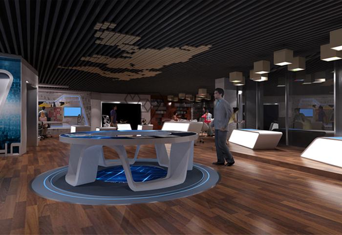 综合展厅设计具有哪些常用?平面设计特点的键图片